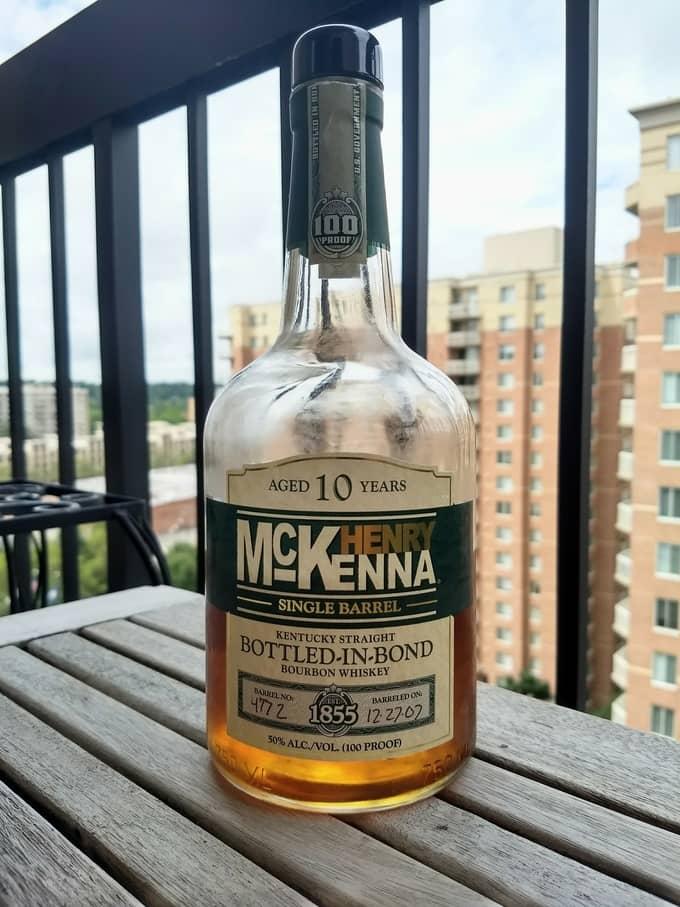 Henry McKenna bottle compressed