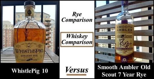 WhistlePig 10 vs SAOS Rye 7