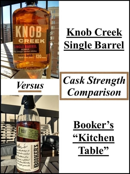 Knob Creek Single Barrel Vs Booker S Kitchen Table The