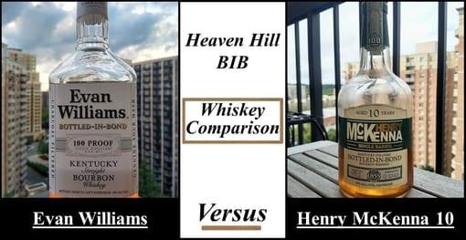 evan williams BIB vs henry mckenna 10 BIB