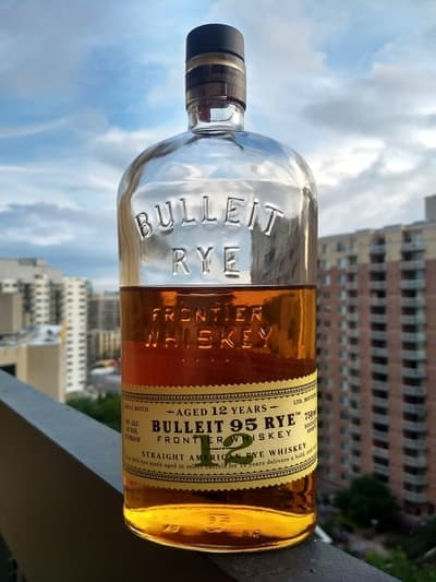 Bulleit 12 year rye compressed