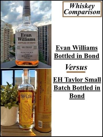 Evan Williams bib vs EH Taylor Small Batch 1 compressed