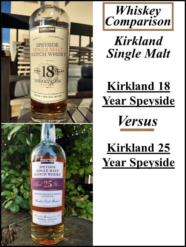 kirkland 18 Year vs 25 Year Speyside comparison
