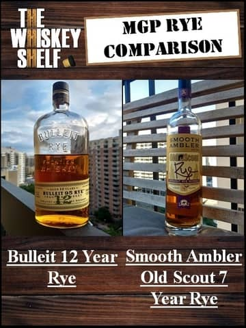 Bulleit 12 rye vs smooth ambler 7 year rye 1 compressed