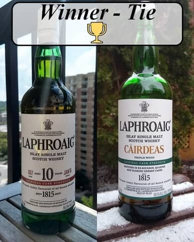 laphroaig 10 vs cairdeas winner