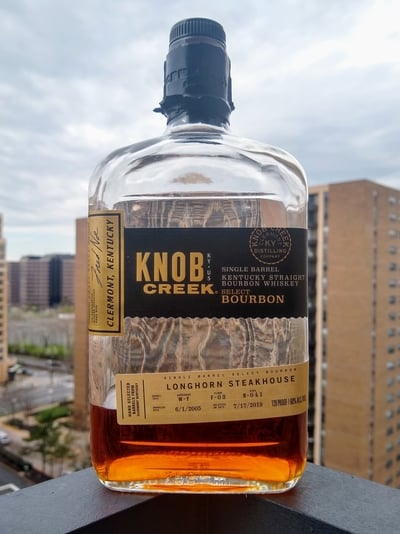 knob creek longhorn 14 year single barrel compressed