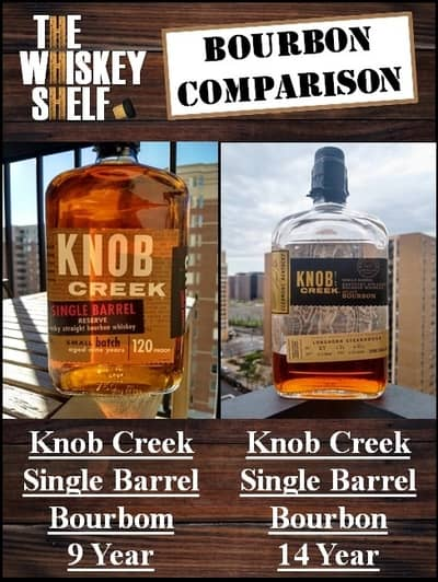 knob creek single barrel 9 year vs 14 year 1 compressed