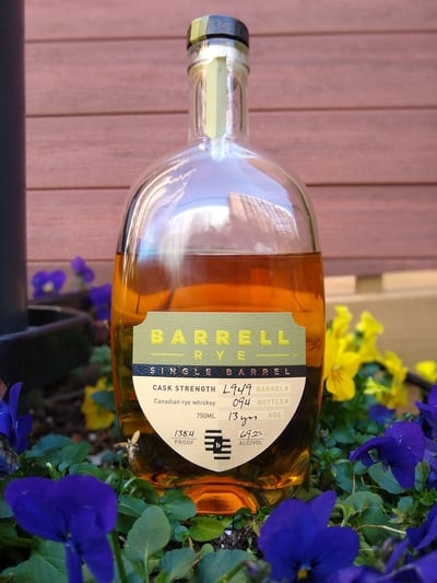 barrell 13 year old rye compressed