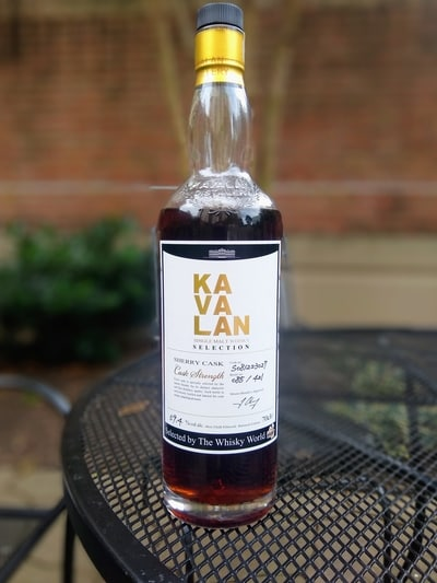 kavalan sherry single cask TWW compressed