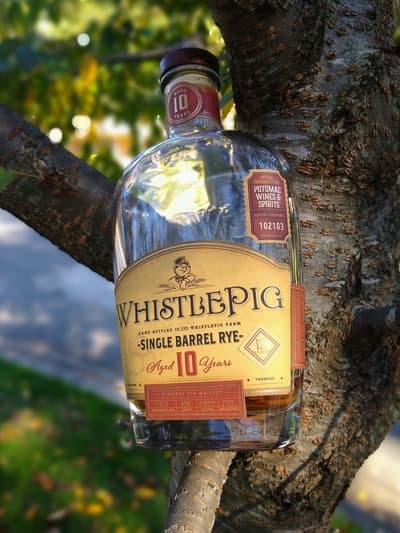 Whistlepig 10 single barrel Potomac wine and spirits compressed