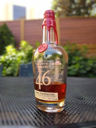 Maker's 46 cask strength compressed