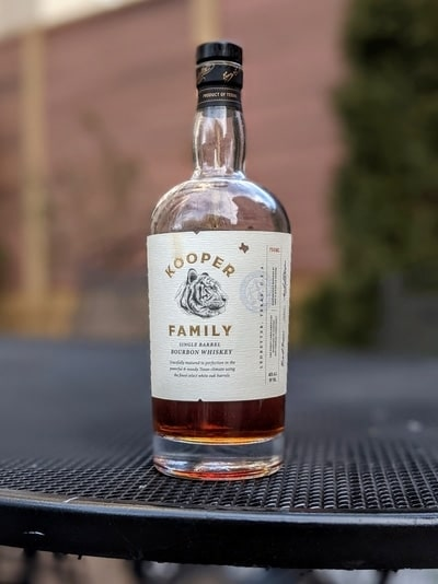 kooper family single barrel bourbon compressed