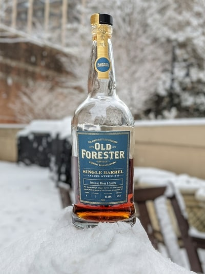 old forester single barrel barrel strength potomac wine and spirits compressed