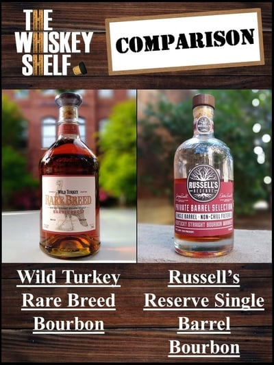 Wild Turkey Rare breed vs Russell's Reserve SIB TW Select 1 compressed